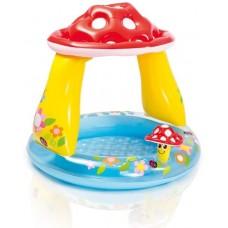 Baby opblaaszwembad Paddenstoel